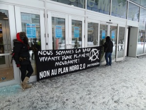 Manifestants contre le Plan Nord , 8 février 2013 (crédit photo: Xuân Ducandas)